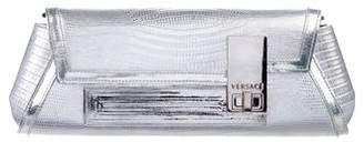Versace Metallic Embossed Chain Clutch