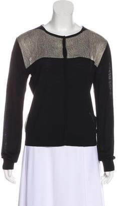 Timo Weiland Lace-Trimmed Merino Wool Cardigan
