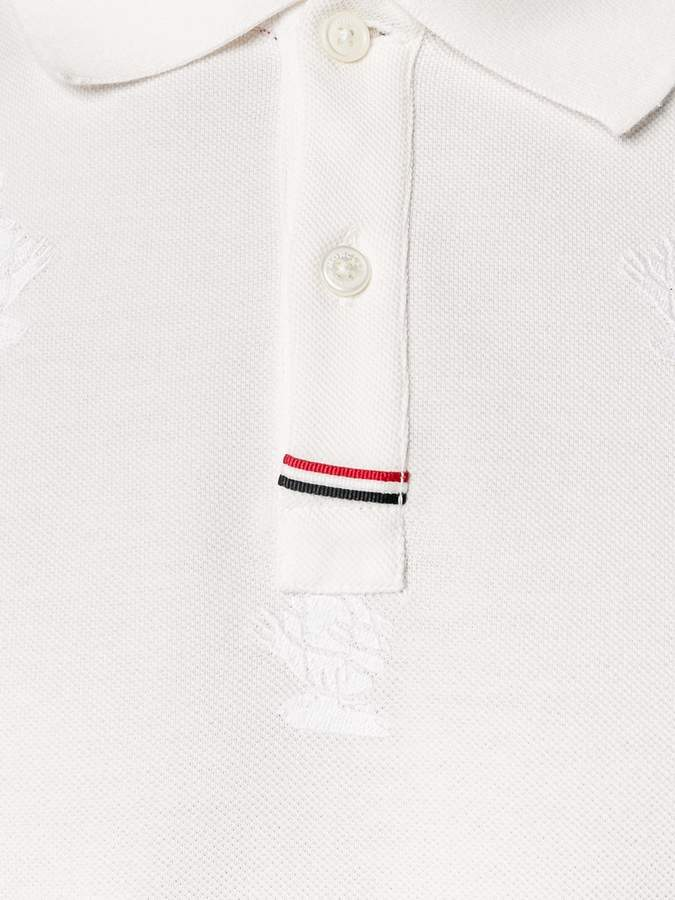 Moncler Gamme Bleu Polo Shirt with Goose Embroidery