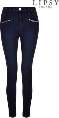 Next Womens Lipsy Super Stretch Zip Skinny Jeans