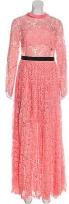 Self-Portrait Floral Lace Maxi Dress w/ Tags