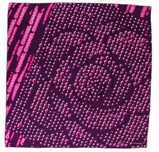 Chanel Printed Silk-Blend Scarf