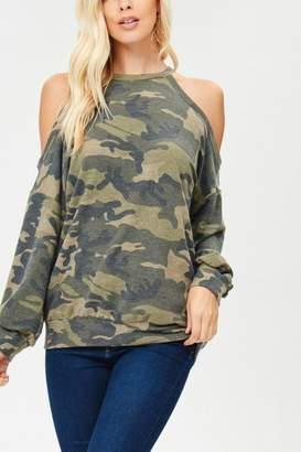 Factory Unknown Cold Shoulder Sweater