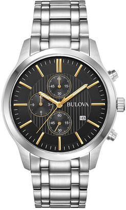 Bulova Men's Chronograph Stainless Steel Bracelet Watch 43mm
