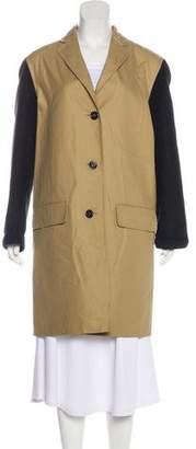Sofie D'hoore Colorblock Knee-Length Coat