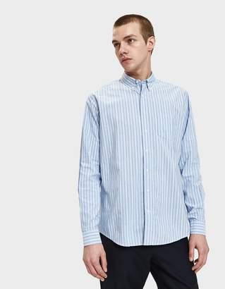 Schnayderman's Leisure Barre Faded Stripe Shirt
