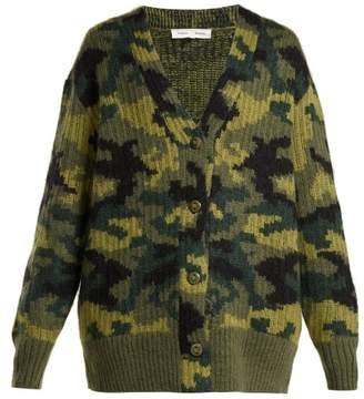 Proenza Schouler Pswl - Camouflage Wool Blend Cardigan - Womens - Camouflage