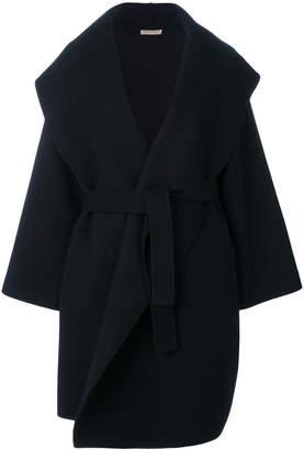 Bottega Veneta dark navy double cashmere coat