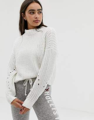Hollister high neck sweater in chenille