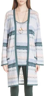 St. John Modern Heritage Chain Knit Cardigan