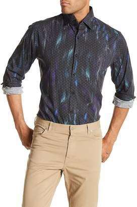 Stone Rose Geo Print Slim Fit Shirt