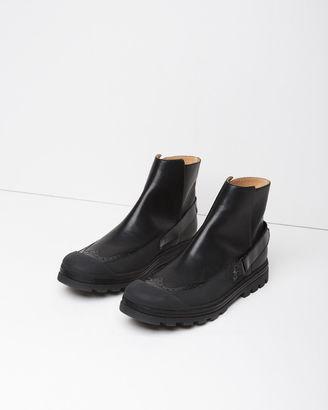 MM6 Maison Margiela Calfskin Rubber Boots $695 thestylecure.com