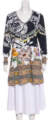 Etro Printed Cotton Tunic Top