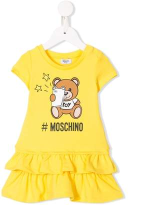 Moschino Kids bear print T-shirt dress