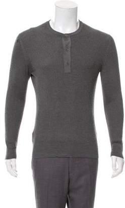 Tom Ford Rib Knit Henley Sweater
