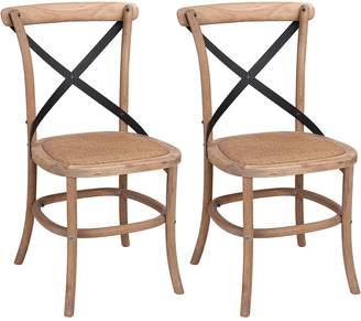 LOFT Homeflex New York Oakly Cross-Back Dining Chair (Set of 2)