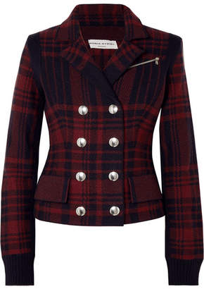 Sonia Rykiel Checked Wool-felt Blazer - Navy