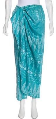Baja East Printed Midi Skirt