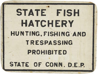 Rejuvenation State Fish Hatchery Hand-Painted Sign from DEP