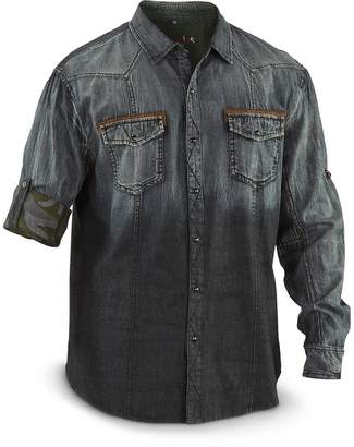 Scully Western Shirt Mens Long Sleeve Snap Denim XXL Charcoal PS-118
