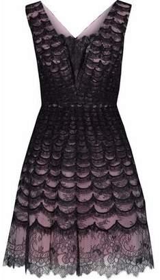 Carolina Herrera Flared Chantilly Lace Dress