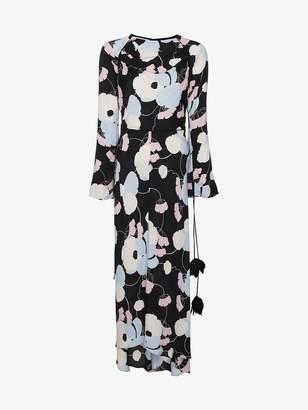 Marni Floral Long Sleeved Maxi Dress