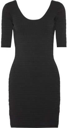 Elizabeth and James Lydia Textured Stretch-ponte Mini Dress - Black