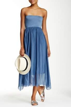 Luma Convertible Silk Midi Skirt