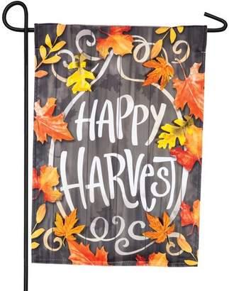 Evergreen Flag & Garden Happy Harvest Solar LED 2-Sided Polyester 1'6 x 1'0.5 ft. Garden Flag
