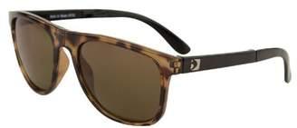 LEN Bobster Hex Folding Sunglasses Gloss Tortoise Frame/Brwn