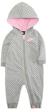 Nike Baby Girl's Dot-Print French Terry Coveralls
