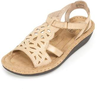 White Mountain CLIFFS BY Women's Chambray Wedge Sandal
