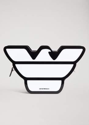 Emporio Armani Eagle-Shaped Plexiglass Bag