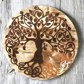 London Garden Trading Copper And Wood Wall Art