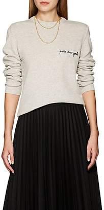 "Maison Labiche Women's ""Paris New York"" Cashmere Sweater - Gray"