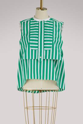 Maison Rabih Kayrouz Striped sleeveless top