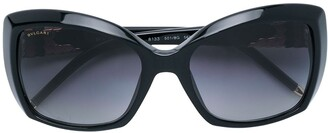 Bulgari Pre-Owned 1990's embellished square-frame sunglasses