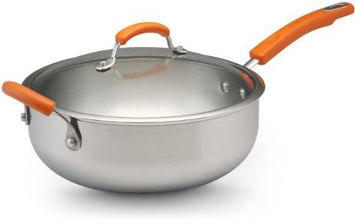 Rachael Ray 6-qt. Stainless Steel II Chef's Pan