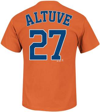Majestic Men's Houston Astros Jose Altuve Name and Number Tee