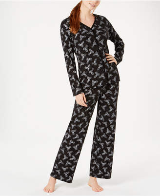 eb5bfea08c Charter Club Cotton Long Sleeve Button Front Pajama Set