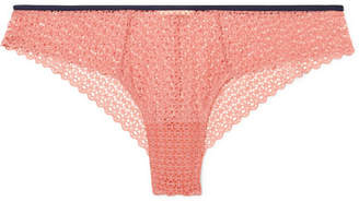Eberjey The Frilly Stretch-lace Briefs - Antique rose
