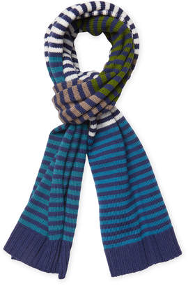 Missoni Wool Striped Long Scarf, 70.5 X 13.5