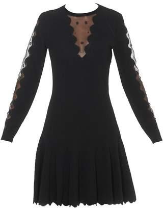 Alexander McQueen Ottoman Scallop Detailed Mini Dress