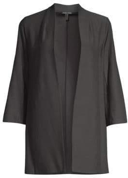 Eileen Fisher Three-Quarter Sleeve Long Jacket
