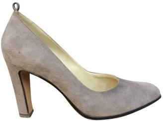 Andrea Pfister Grey Suede Heels