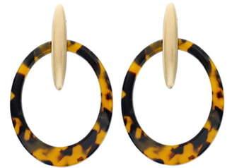 Panacea Resin Hoop Earrings