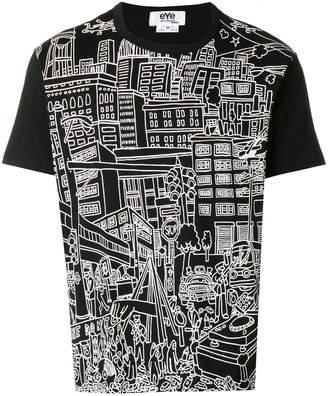 Junya Watanabe city print T-shirt