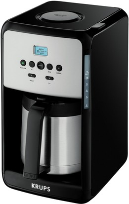 Krups 12 Cup Savoy Programmable Black Thermal Coffee Maker
