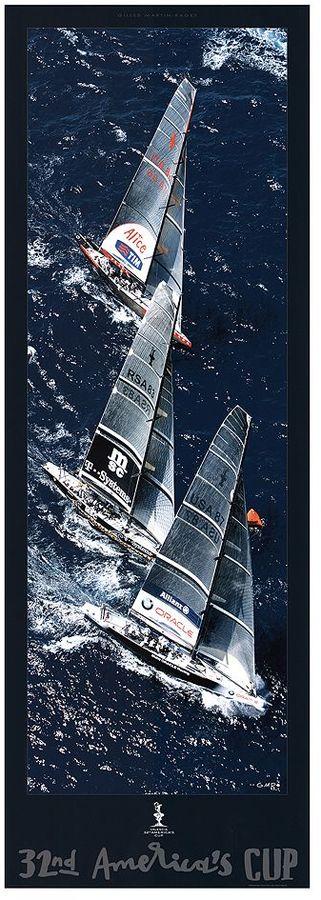 Art.com Fleet to the Mark 32nd America's Cup Wall Art Print