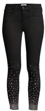 L'Agence Margot Crystal Ankle Skinny Jeans